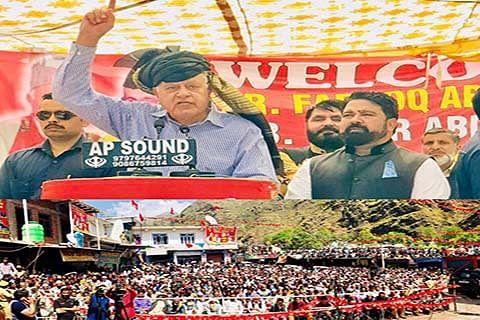 Kashmiris not slaves of India: Farooq Abdullah