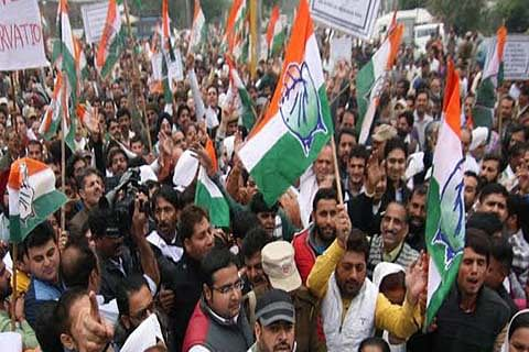 Cong protests against Govt