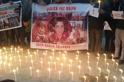 Candlelight protest in Charar