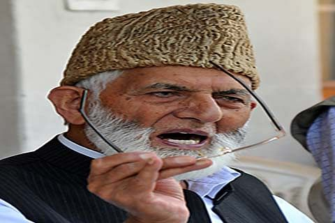 Rulers responsible for chaotic situations in J&K: Geelani