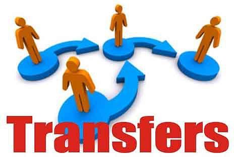 Private secretaries, under secretaries, transferred, posted