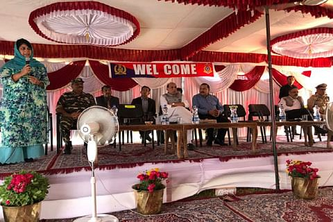 """Mehbooba congratulates forces for """"exercising restraint"""" during Law and Order duties"""