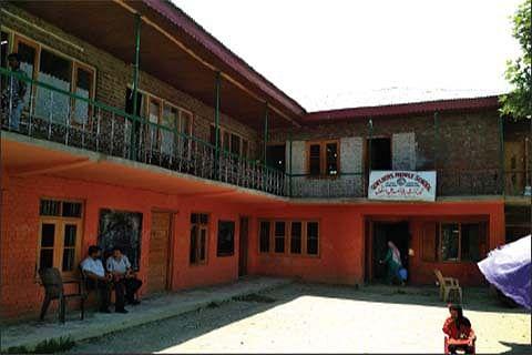 Qamarwari Middle school functions from ground floor, factory in first floor