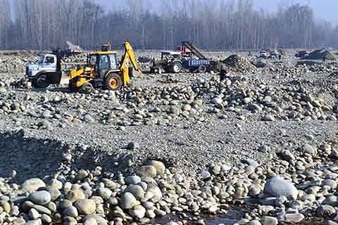 Illegal mining in Rajouri: Rivers damaged, PHE infrastructure affected