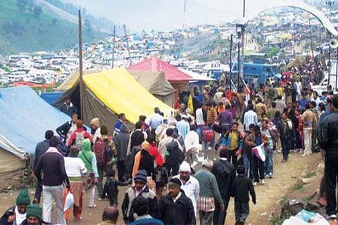 Baltal base camp wears festive look