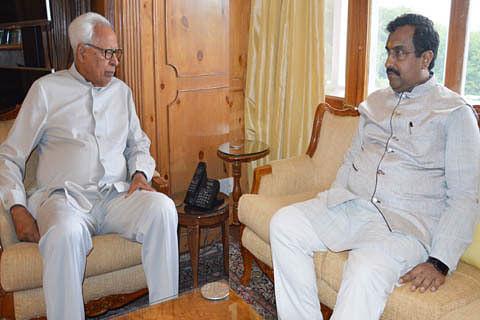 BJP 's Ram Madhav meets Jammu and Kashmir Governor Vohra