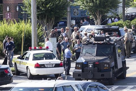 Five killed in US newsroom shooting, suspect detained