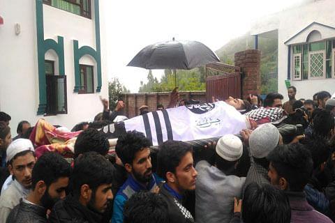 Thousands participate in funeral prayers of slain civilian Faizan in Pulwama