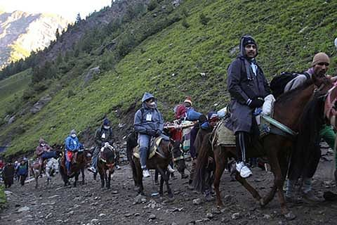 Yatra from Baltal route suspended again
