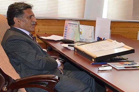 Advisor Khurshid Ganai reviews flood protection works