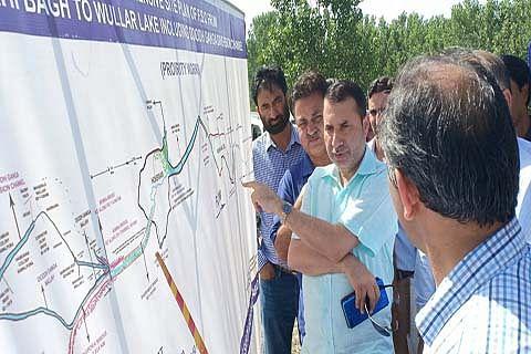 Secretary I&FC reviews flood management works
