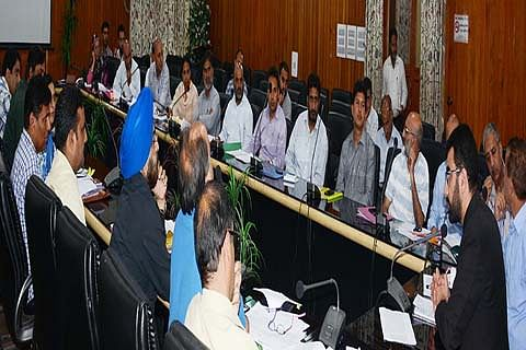 DC reviews status of projects under PMDP, AMRUT