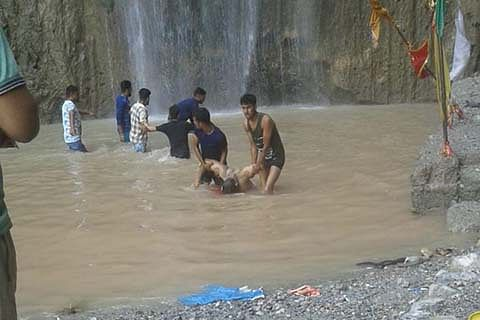 Siar Baba waterfall incident aftermath