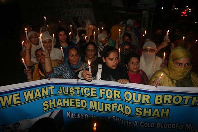 Candle-light March Held In Jammu To Demand Justice For Murfad Shah