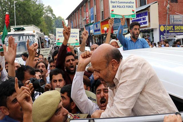 Legislator Rasheed Detained During Protest In Srinagar