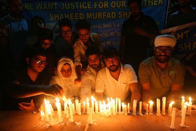 Candle-Light Vigil For Murfad Shah At Bahu Plaza In Jammu