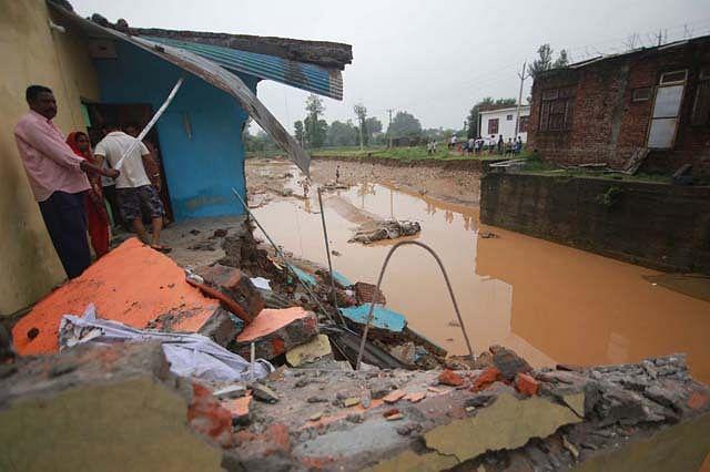 Flash Flood Wreaks Havoc In Bantalab Jammu