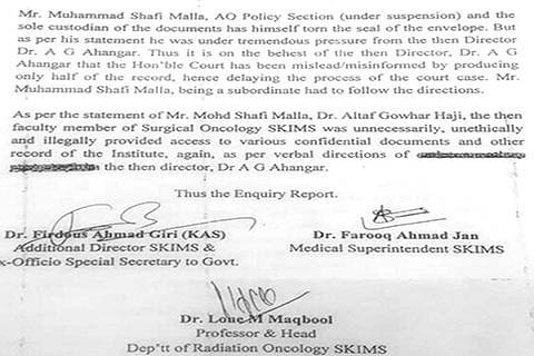 On Dr Ahangar's behest court was misled, misinformed:  Panel