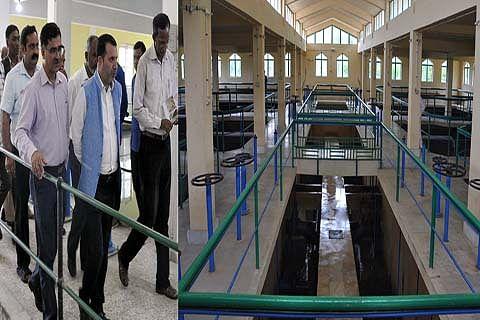 Farooq Shah inspects water treatment plant Rangil