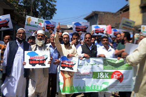 Anantnag traders protest against attempts to revoke Article 35-A