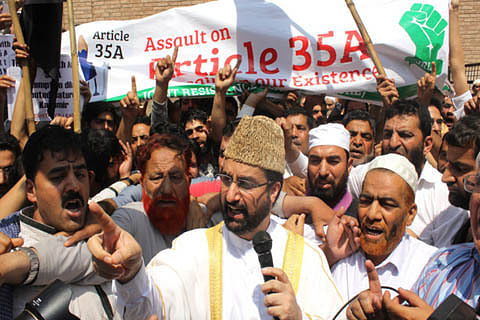 Will launch mass agitation if Article 35-A tinkered with: Mirwaiz