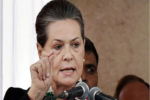 Sonia leads Congress protests against Rafale deal