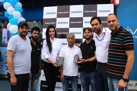 Samsung Galaxy Note 9 launched at 'Master Arts' in Srinagar
