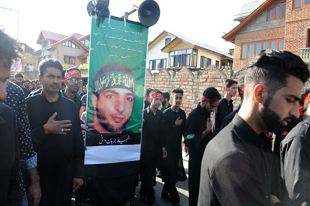 Kashmiri Shiite Mourners Take Out Muharram Procession In Downtown Srinagar