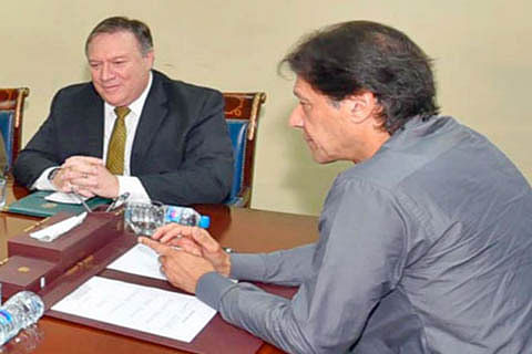 Pompeo asks Imran Khan to take sustained  measures against militants in Pakistan