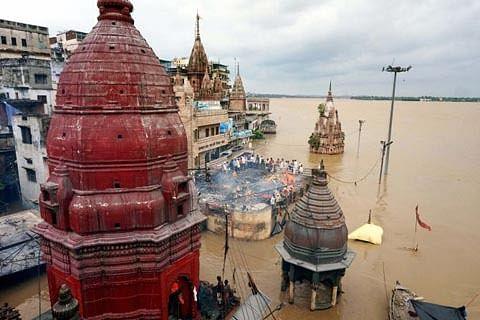 Ganga floods Varanasi ghats, 20 dead in UP rains