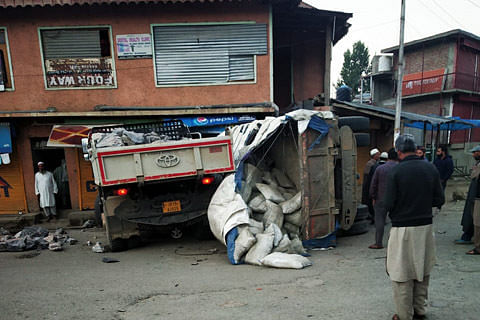 2 shops damaged after 2 speedy tippers ram into them