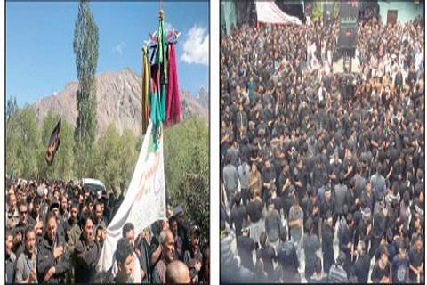 Muharram processions taken out in Kargil, Saknoo