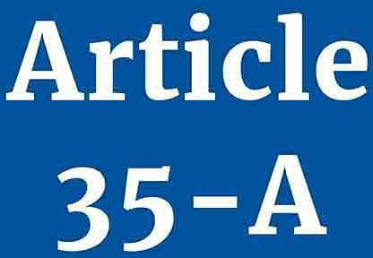 'Awarding power projects to non-local companies attack on Article 35-A'