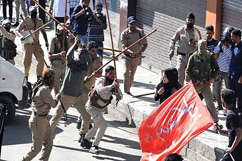 CURBS, CLASHES AND CHAOS: Police foil Muharram processions, 8 mourners and 2 cops injured