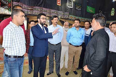 Muharram arrangements reviewed at Zadibal