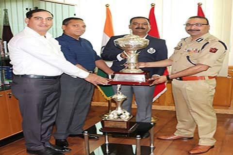 DGP felicitates police golf team for winning All-India Police Golf Tournament 2018