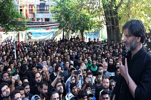 Yasin Malik addresses Muharram congregation