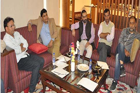 KEG delegation interacts with Secretary Information