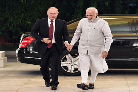 Putin arrives in India for annual bilateral summit