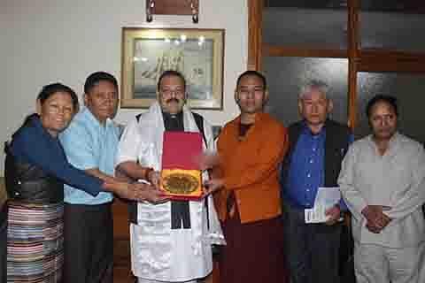 Tibetan MPs team meets Rana, seeks support