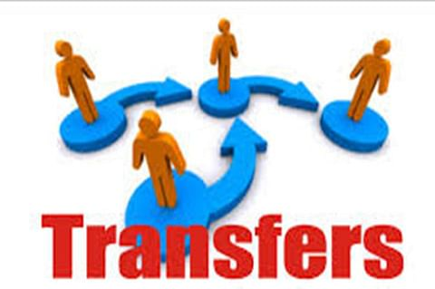 Top-level transfers in health department