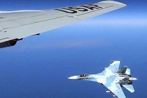 Russian fighter jet intercepts US aircraft over Black Sea