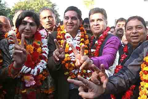 BJP leader Chander Mohan Gupta elected Jammu mayor