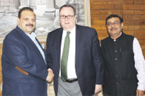 US envoys calls on Rana, discuss issues of common interest