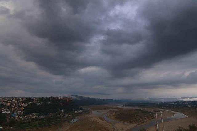 Dark Clouds Hover Over Jammu