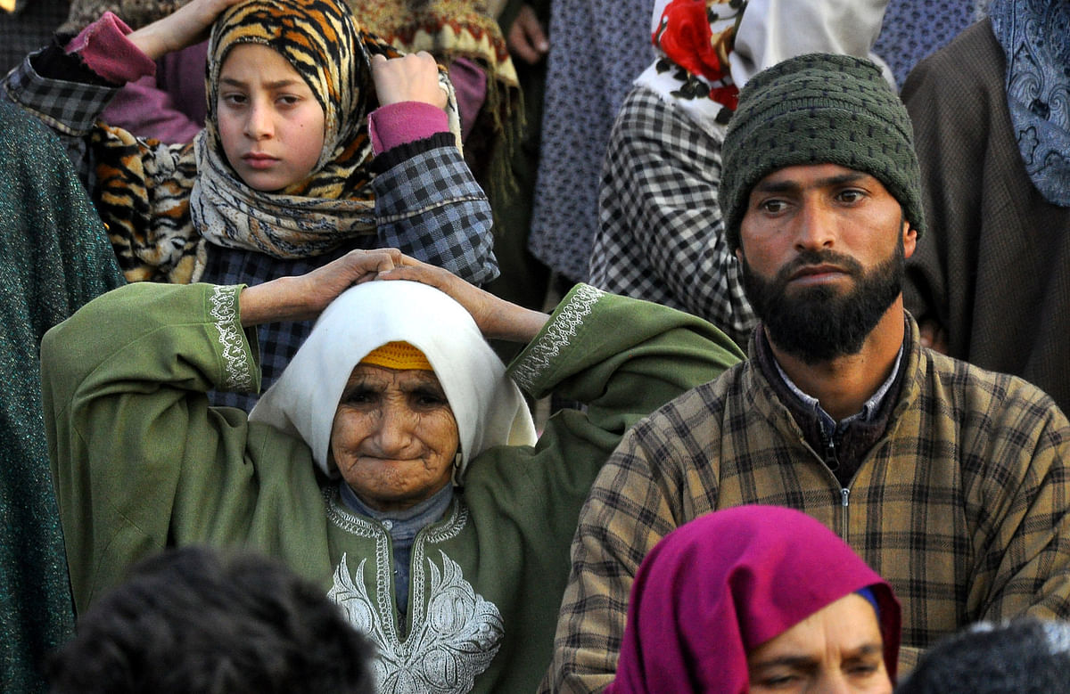 Funerals of Hizb Militant, Civilian in Pulwama villages