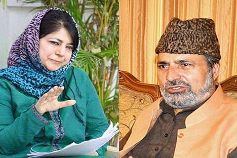 Battling 'rebellion' within party, Mehbooba meets dissident Baig