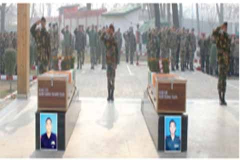 Army pay tributes to slain soldiers