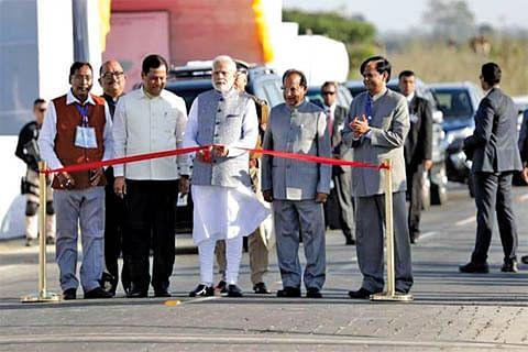 PM Modi inaugurates India's longest rail-cum-road bridge in Assam