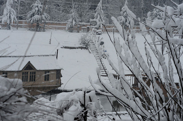 Snowfall Brings Cheer in Kashmir, Disrupts Surface and Air Connectivity